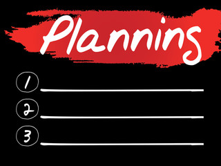 Planning Blank List, vector concept background