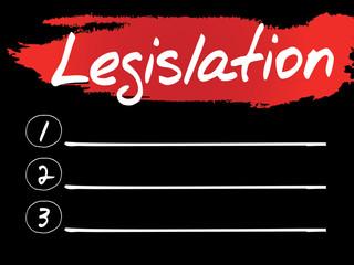 Legislation Blank List, vector concept background
