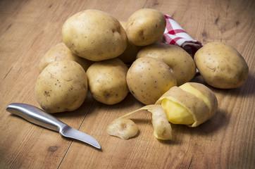 Patatas en la cocina