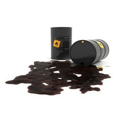 Overturned barrel of oil