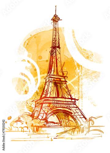Fotobehang Parijs Paris Summer
