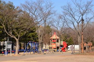 韓国 住宅街の公園