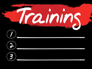 Training Blank List, vector concept background