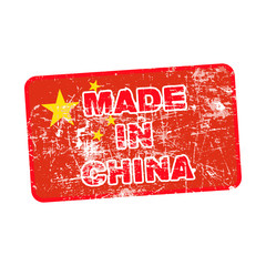 Grunge rubber stamp with Made in China