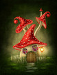 Fantasy mushroom house - 79332071