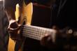 Leinwandbild Motiv Acoustic guitar detail