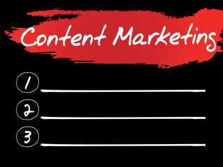 Content Marketing Blank List, vector concept