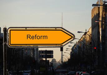 Strassenschild 37 - Reform
