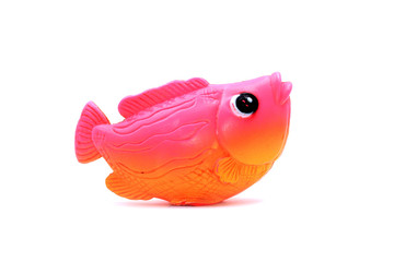 fish toy isolated on white background