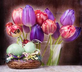 Tulpen, Osterdekoration