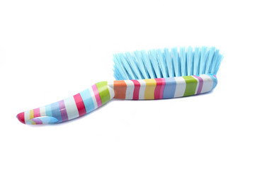 Cleaning dust brush and pan isolated on a white background