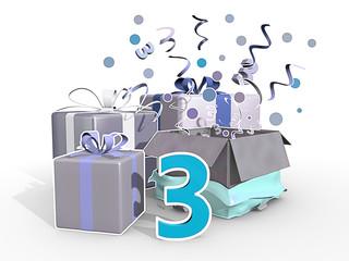 Cadeaus in blauwe tinten voor de derde