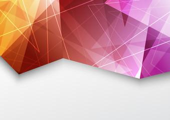 Purple color triangle pattern modern brochure template
