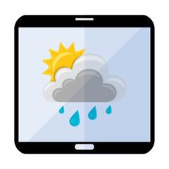 Icono smartphone clima