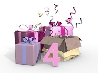 Roze pakjes voor de vierde