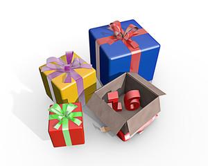 Cadeaus voor de zestiende