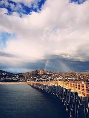 Ventura coast from pier