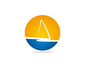Abstract sail logo 1a