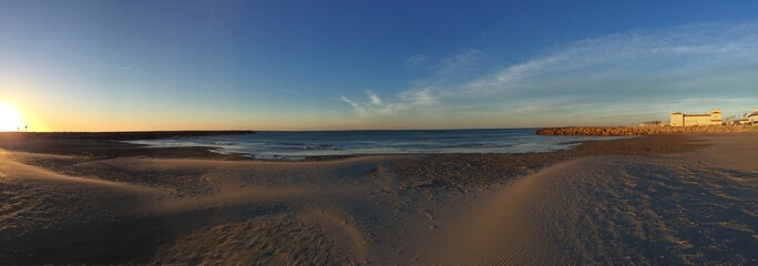 plage au matin