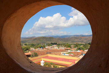 Trinidad, panoramic view from San Francisco bell tower  - Cuba
