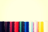 Composition of colorful cottons.