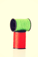 Green and red cotton.