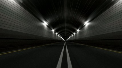 Tunnel Road Driving Endless Seamless Loop