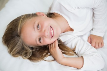 Happy girl smiling at camera