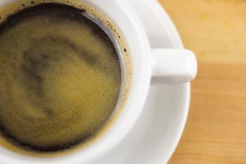 Frische Tasse Kaffee, Draufsicht