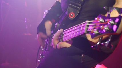 guitar solo - rock band - live concert - closeup shot