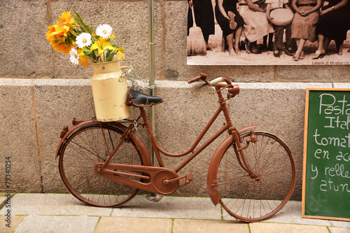Bicycle bicicleta vintage en la calle
