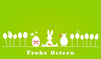 Osterhase, Lamm und Ei