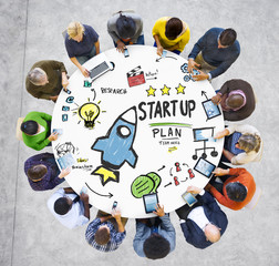 Start Up Business Launch Success People Technology Concept