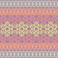 colorful lace seamless pattern, vector illustration