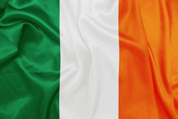 Ireland - Waving national flag on silk texture