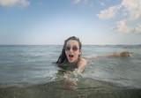 Having fun in the water