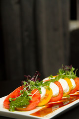 Image of tasty tomato and mozzarella salad