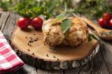 Fototapety Stuffed oven chicken breast