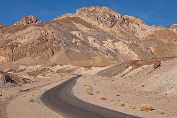 USA - Artists drive in the Death Valley