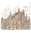 milan cathedral hand draw - 79343810