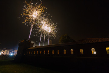 Fuochi d'artificio, Galliate, Novara, Piemonte, Italia