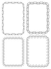 Vector set of elegant frames on a white background