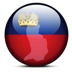 Map on flag button of  Liechtenstein