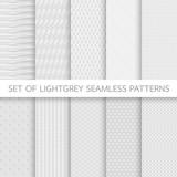 Fototapety Set of Lightgrey Seamless Patterns