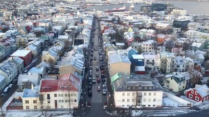 Aerial View of Reykjavik in Iceland