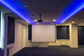 Conference hall with  presentation screens