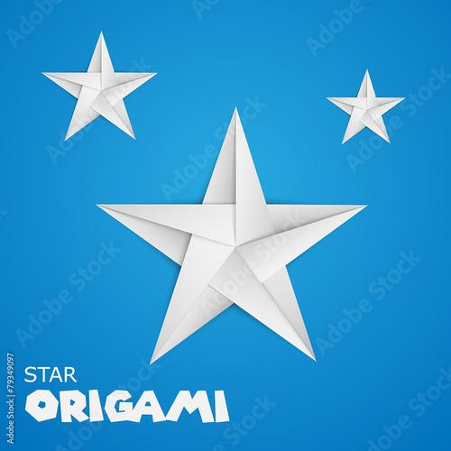 Fototapeta origami paper star