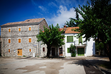 Traditional houses in small Croatian village