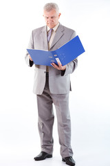Senior Businessman Looking At Documents