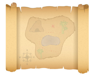 pirate treasure map vector illustration